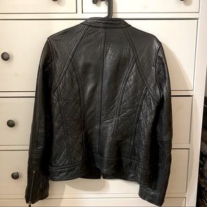 Michael Kors Quilted Leather Motorcycle Jacket